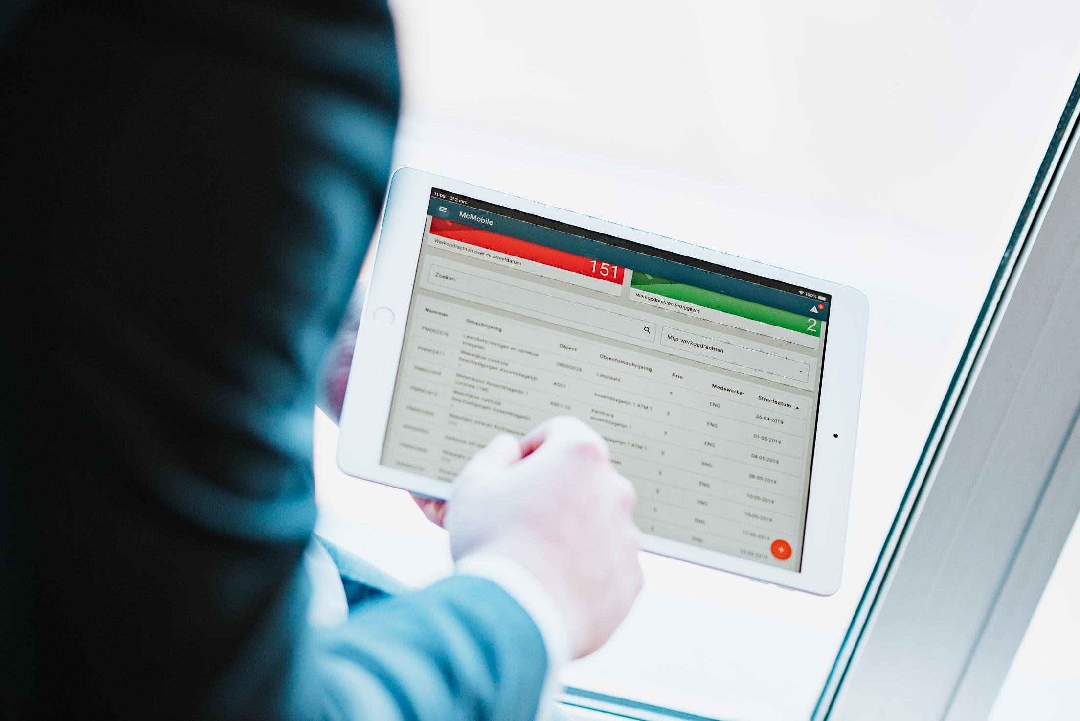 Grafische werkplanning in maintenance management software